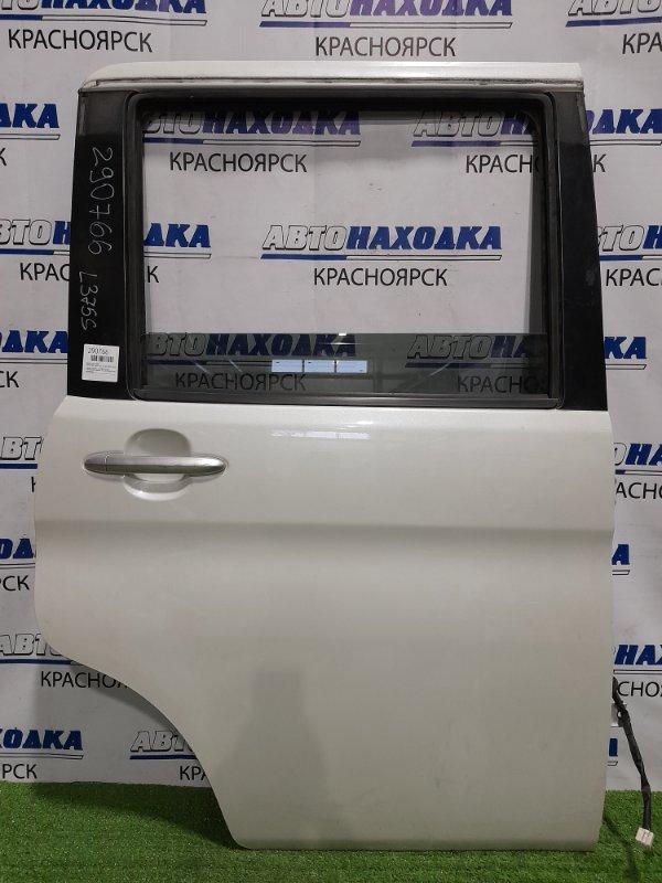 Дверь Daihatsu Tanto L375S KF 2007 задняя правая задняя, правая, в сборе, белый перламутр, в целом