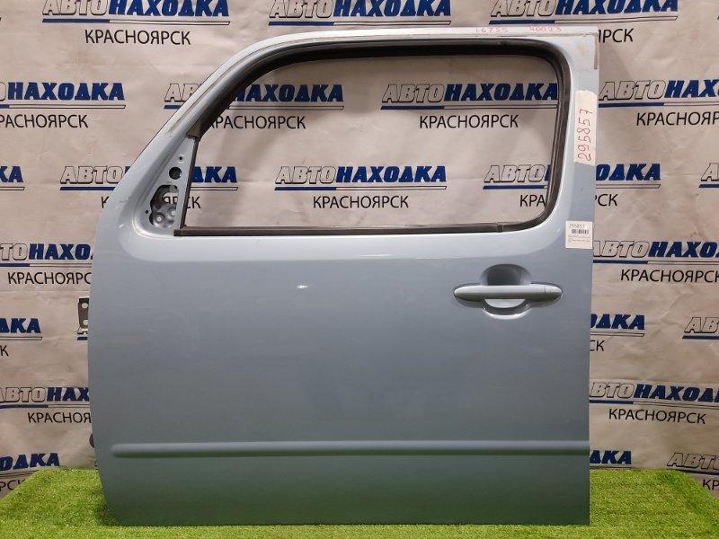 Дверь Daihatsu Mira Cocoa L675S KF 2009 передняя левая ХТС, передняя, левая, в сборе, голубая (B69)