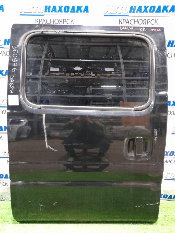 Дверь Suzuki Every DA62W K6A 1999 задняя правая задняя, правая, в сборе, чёрная, потёртости, сколы,