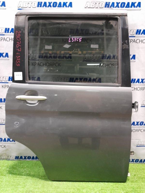 Дверь Daihatsu Tanto L375S KF 2007 задняя правая задняя, правая, в сборе, серая, малозаметная