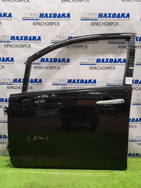 Дверь Daihatsu Move LA100S KF 2010 передняя левая передняя, левая, в сборе, чёрная, царапины,