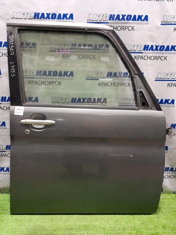 Дверь Daihatsu Tanto L375S KF 2007 передняя правая передняя, правая, серая, обшивка без накладки и