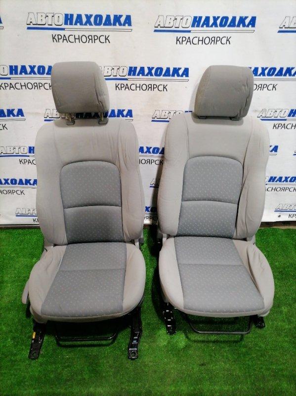 Сиденья Mazda Axela BK5P ZY-VE 2003 передняя передние, светло-серая ткань, механические