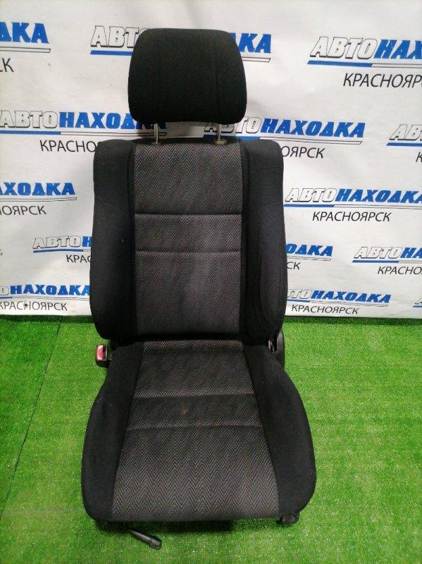 Сиденья Subaru Legacy BH5 EJ20 2001 передняя левая переднее левое, черная ткань, механические