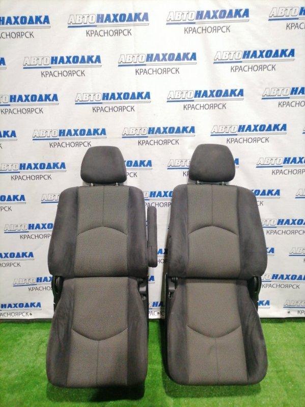 Сиденья Mazda Tribute EPFW AJ 2000 передняя передние, черная ткань с перфорацией, механические