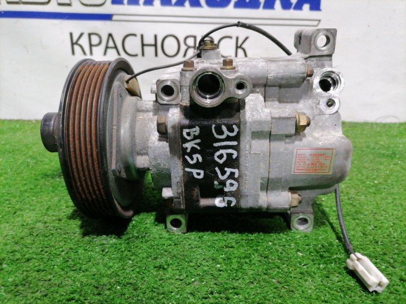 Компрессор кондиционера Mazda Axela BK5P ZY-VE 2003 пробег 56 т.км. ХТС. С аукционного авто.