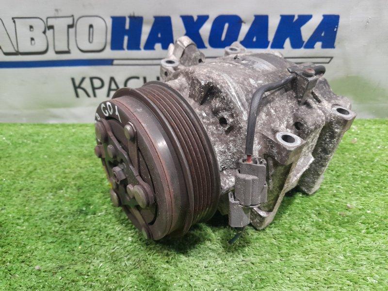 Компрессор кондиционера Honda Fit GD1 L13A 2001 2 мод. пробег 82 т.км. ХТС. С аукционного авто.