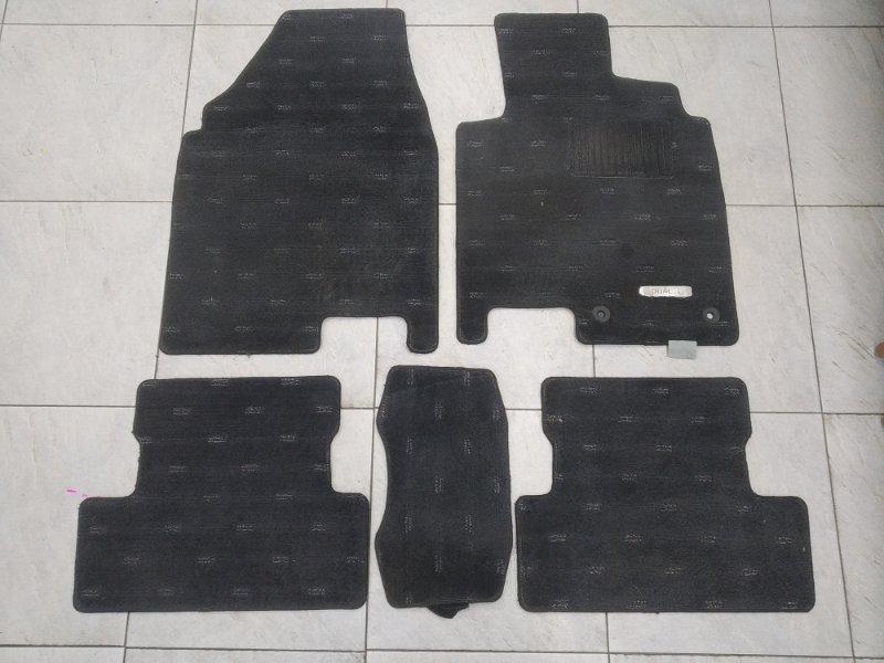 Коврик Nissan Qashqai J10 MR20DE 2007 комплект, 5 штук, черные, правый руль DUALIS