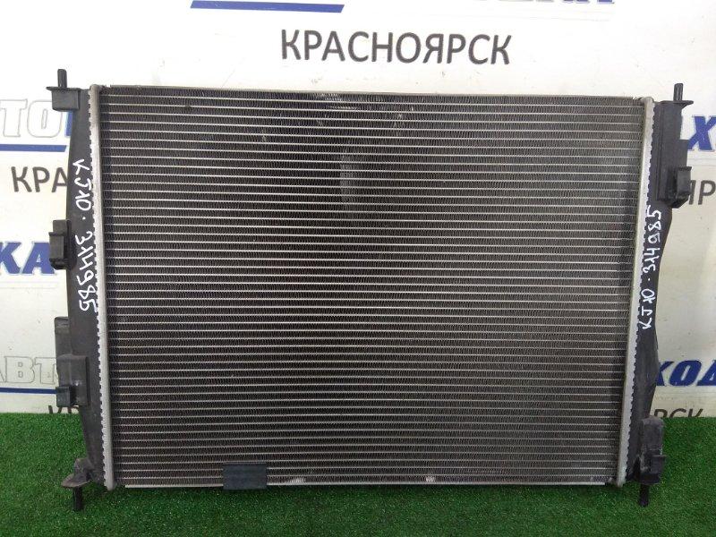 Радиатор двигателя Nissan Qashqai KJ10 MR20DE 2006 в сборе, с диффузором и вентилятором, пробег