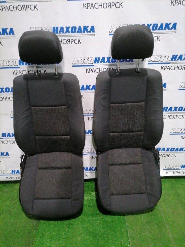 Сиденья Bmw 320I E46 M54 B22 2001 передняя передние,черная ткань, электрорегулировки, память на