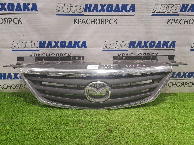 Решетка радиатора Mazda Mpv LWEW FS 1999 дорестайлинг, дефект хрома