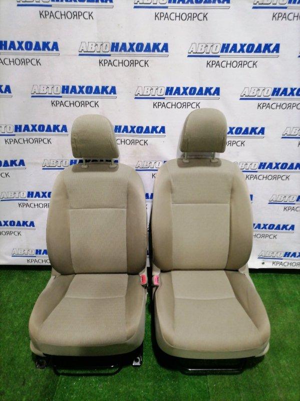 Сиденья Toyota Allion ZRT261 3ZR-FAE 2007 передняя передние, бежевая ткань, механические