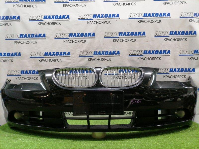 Бампер Bmw 530I E60 N52B30 2003 передний передний, с решетками, с туманками (помутнели стекла),