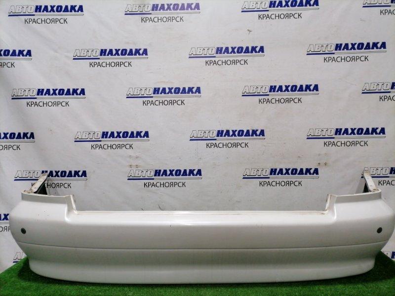 Бампер Mitsubishi Diamante F34A 6A13 1997 задний Задний, с парктрониками, цвет W75A. Есть сколы до