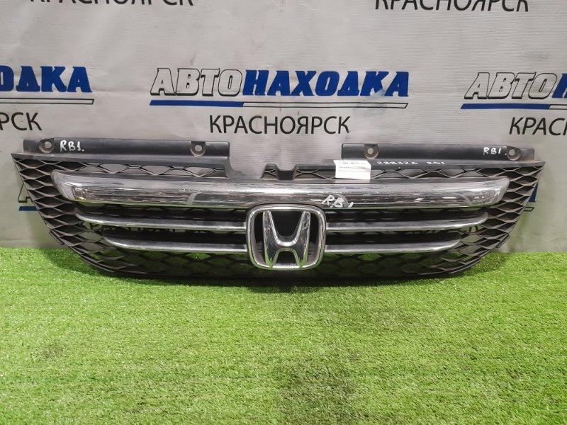 Решетка радиатора Honda Odyssey RB1 K24A 2003 дорестайлинг, потёртости по хрому