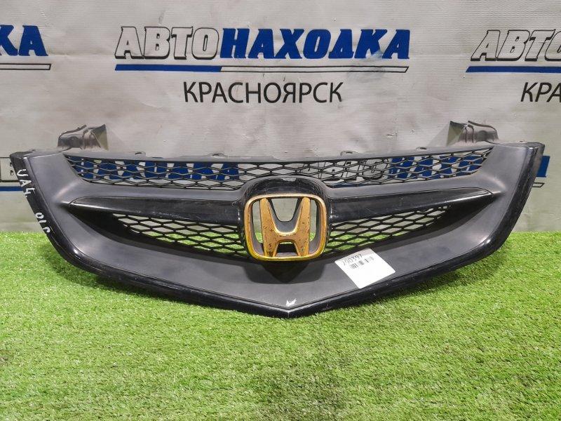 Решетка радиатора Honda Inspire UA4 J25A 2001 рестайлинг, потёртости, облазит хром на значке