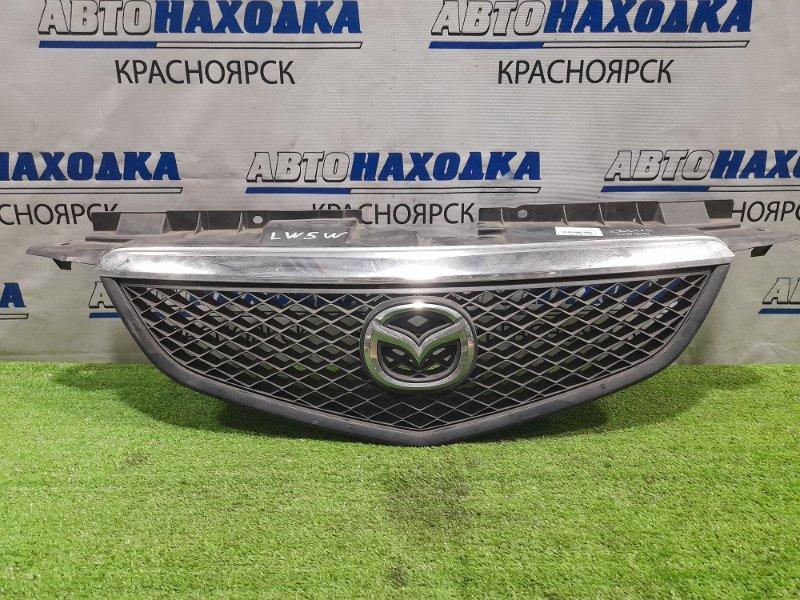 Решетка радиатора Mazda Mpv LW3W L3 рестайлинг, с хром накладкой, слегка помутнел хром