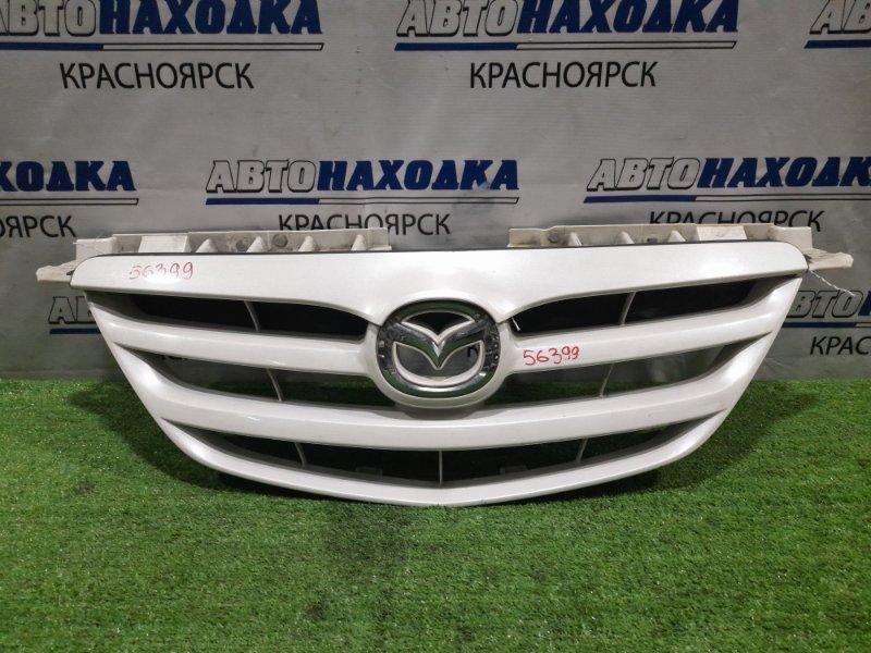 Решетка радиатора Mazda Mpv LW3W L3 2003 ХТС, 2-й рестайлинг, белый перламутр, решётка +