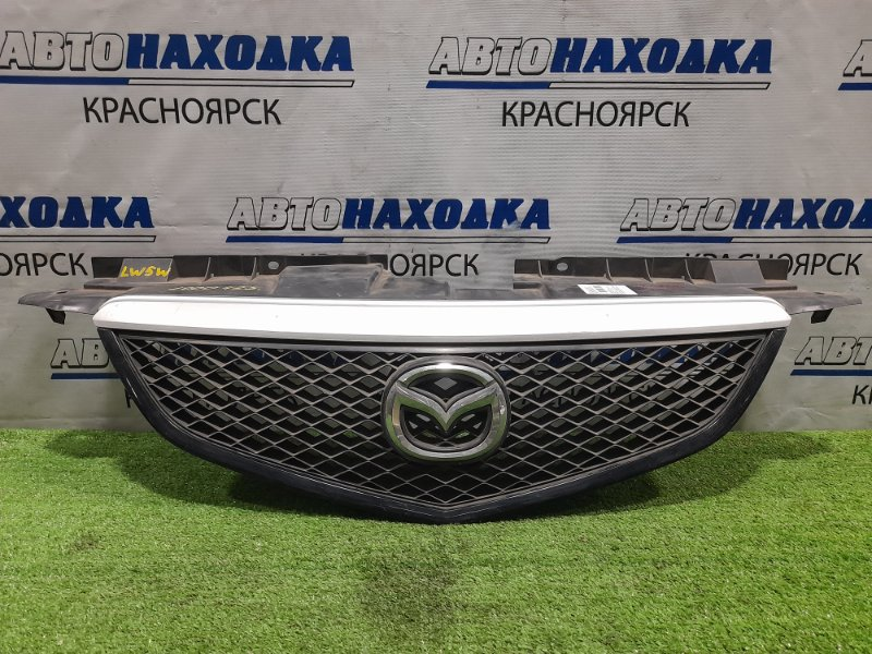 Решетка радиатора Mazda Mpv LW3W L3 2002 рестайлинг, с серебристой накладкой, сломана