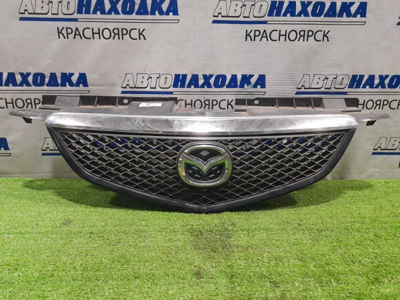 Решетка радиатора Mazda Mpv LW3W L3 2002 рестайлинг, с хром накладкой, слегка помутнел хром
