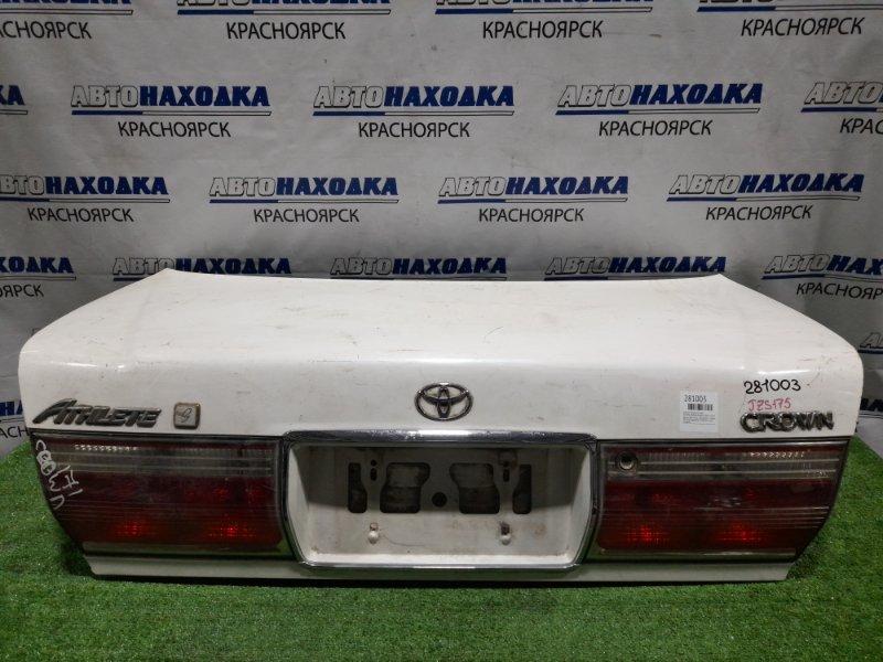 Крышка багажника Toyota Crown JZS175 2JZ-FSE 1999 задняя 64401-3A102 белый перламутр, с фонарями 1