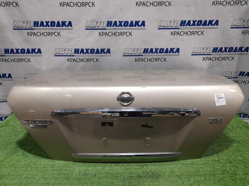 Крышка багажника Nissan Bluebird Sylphy QG10 QG18DE 2003 задняя рестайлинг, золотистая, царапины, под