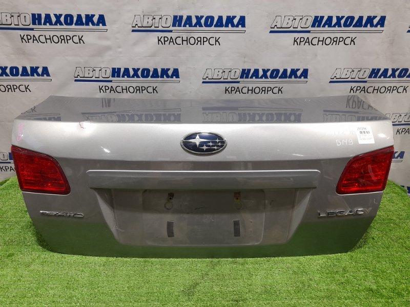 Крышка багажника Subaru Legacy BM9 EJ25 2009 задняя серая, с фонарями (226-20070), вмятинки, царапины