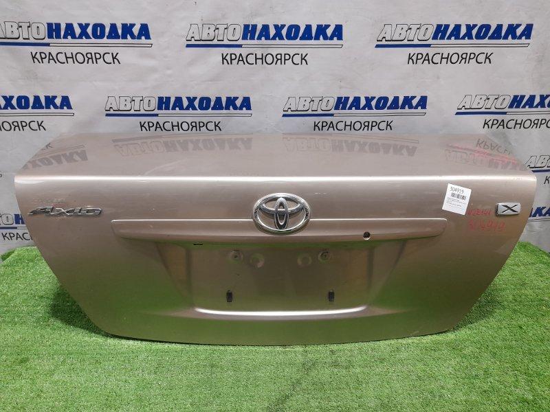 Крышка багажника Toyota Corolla Axio NZE141 1NZ-FE 2006 задняя золотистая, вмятинки, царапинки