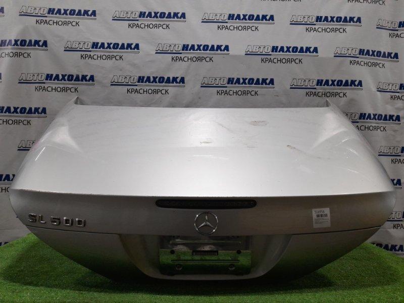 Крышка багажника Mercedes-Benz Sl-Class R230.475 113.963 2001 задняя серебристая, под квадратный номер,