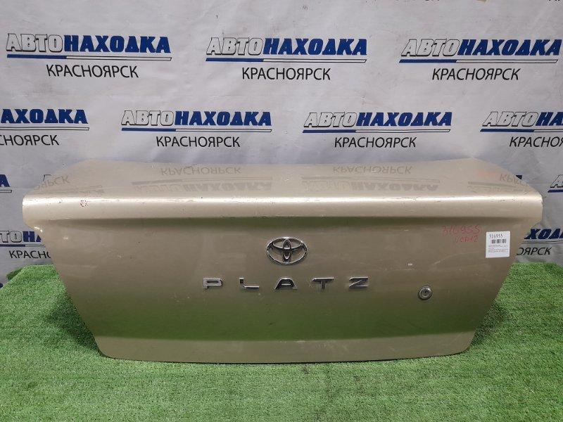 Крышка багажника Toyota Platz NCP12 1NZ-FE 1999 задняя 1 модель, дорестайлинг, золотистая,