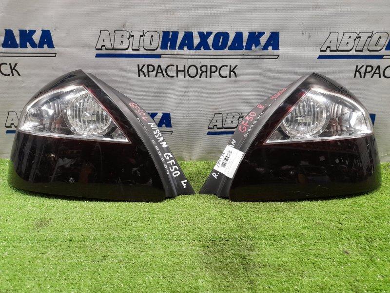Фонарь задний Nissan Cima GF50 VK45DD 2001 задний левый Пара - левый + правый (тонированы пленкой).