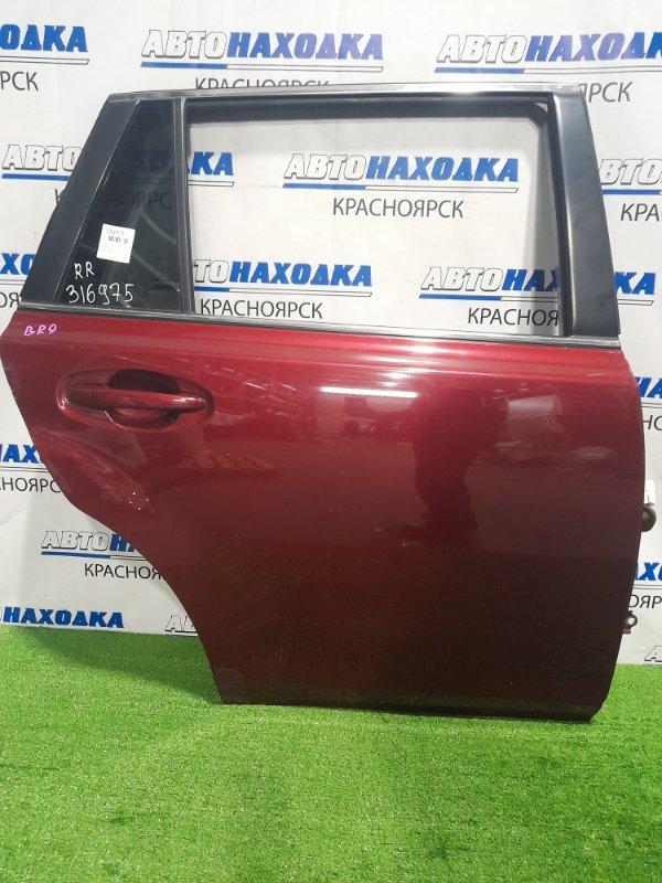 Дверь Subaru Legacy BR9 EJ25 2009 задняя правая Задняя правая, в сборе, цвет 69Z Есть вмятинка (см