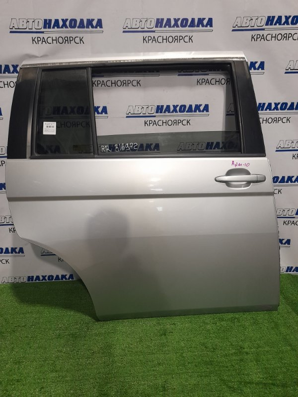 Дверь Toyota Isis ANM10G 1AZ-FSE 2004 задняя правая Задняя правая, цвет 1F7. Есть царапина с