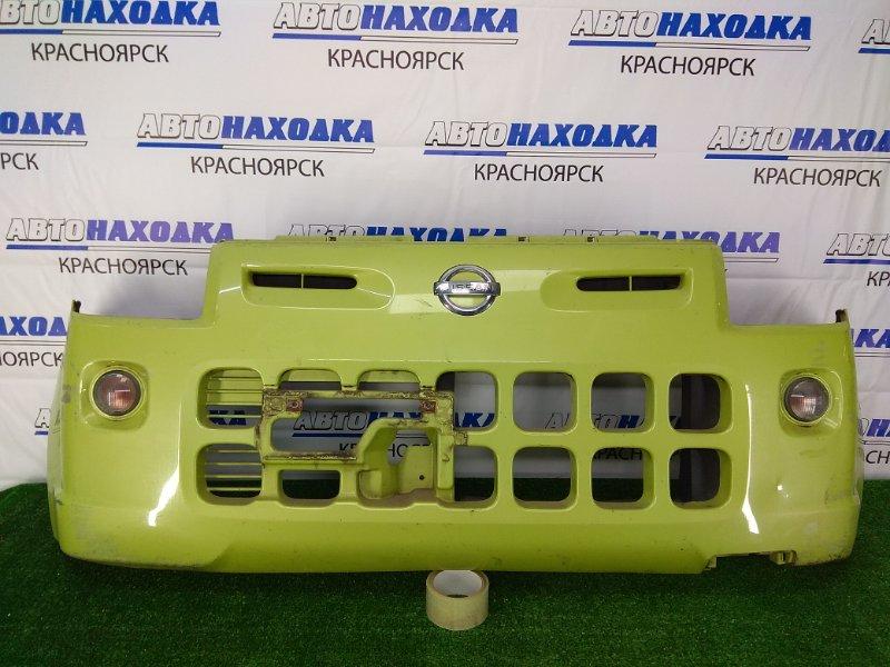 Бампер Nissan Pino HC24S K6A 2007 передний передний, зеленый, с повторителями, нет нижней