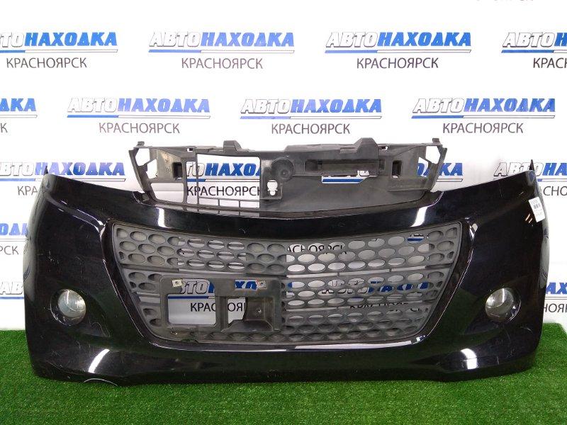 Бампер Suzuki Palette MK21S K6A 2008 передний передний, черный, с туманками и нижней решеткой,