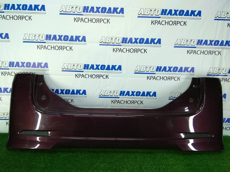 Бампер Daihatsu Tanto L375S KF 2007 задний задний, фиолетовый, заглушки в катафотах, царапинки