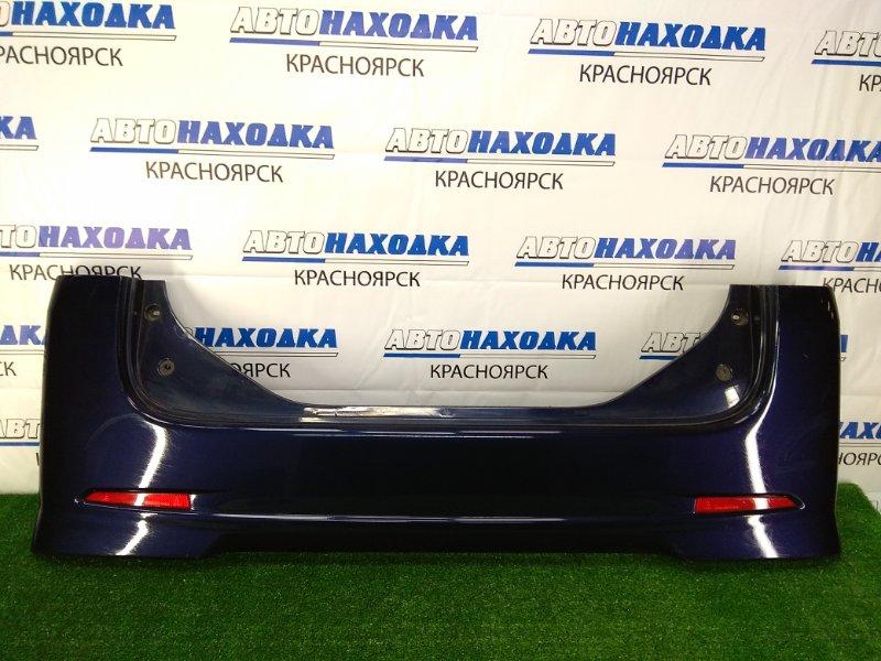 Бампер Daihatsu Tanto L375S KF 2007 задний задний, синий (B68), с катафотами, потертости, царапинки