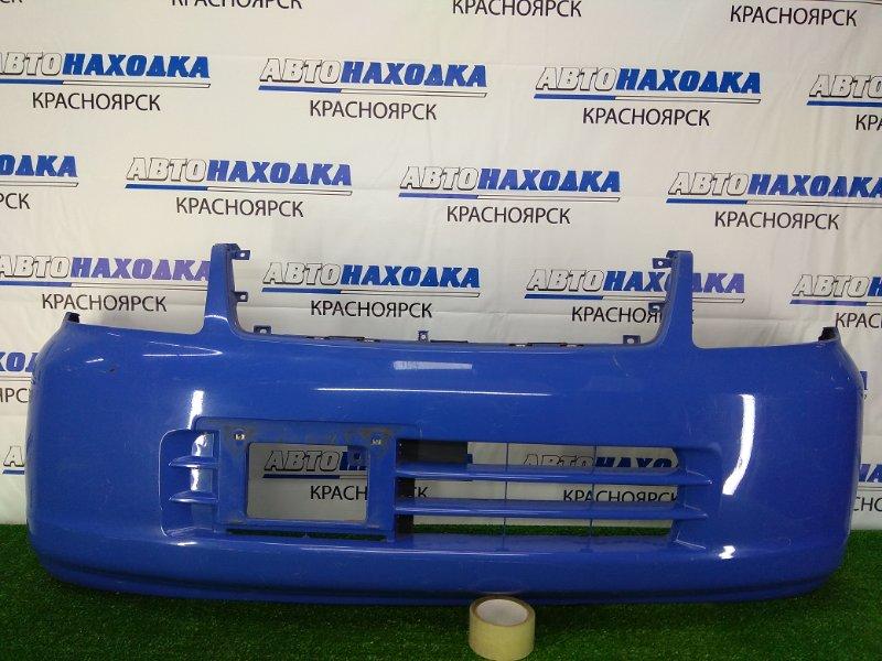 Бампер Nissan Otti H91W 3G83 2005 передний передний, синий, 1 поколение, потертости, царапинки