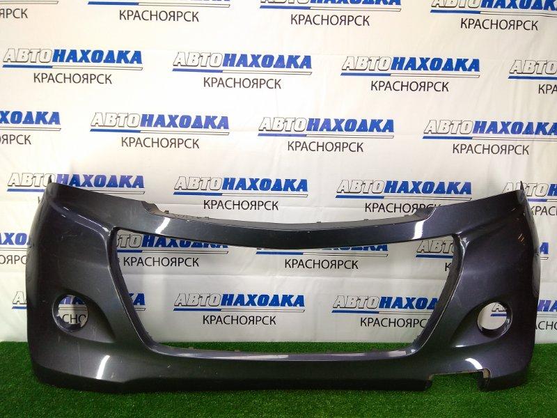 Бампер Suzuki Palette MK21S K6A 2008 передний передний, темно-серый, пустой- без решетки и