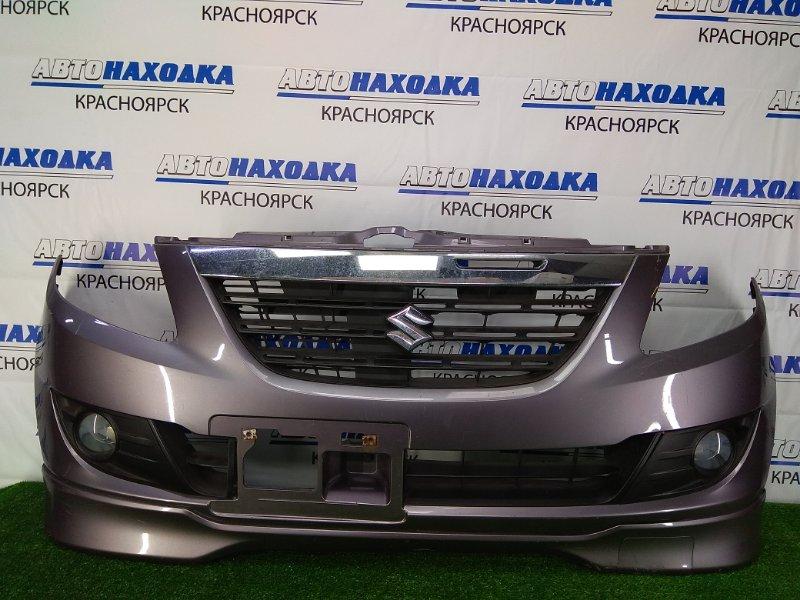 Бампер Suzuki Cervo HG21S K6A 2006 передний передний, серый с фиолетовым оттенком, с туманками, с