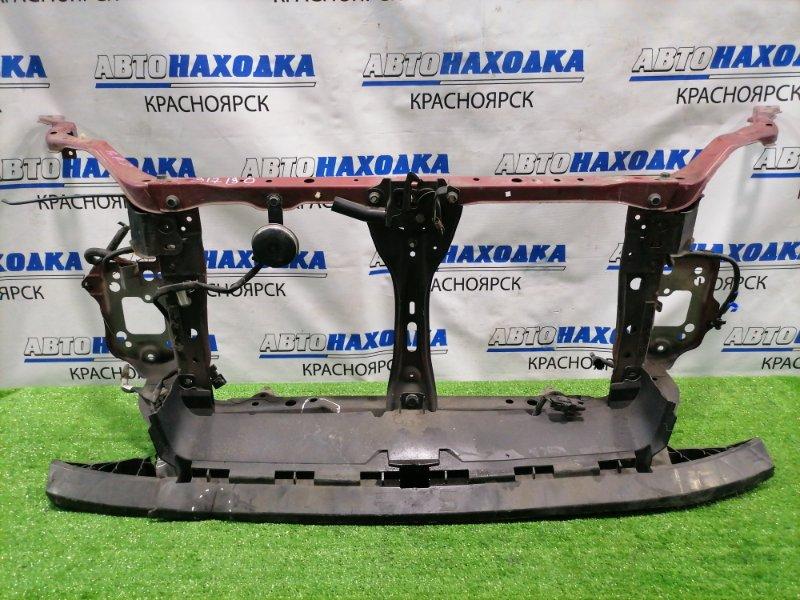 Рамка радиатора Subaru Legacy BR9 EJ25 2009 с замком капота и сигналом, замята нижняя планка
