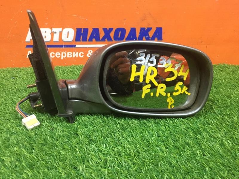 Зеркало Nissan Skyline HR34 RB20DE 1998 правое 5к под покраску