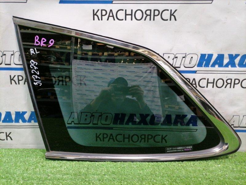 Стекло собачника Subaru Legacy BR9 EJ25 2009 заднее левое Заднее левое с молдингом. Тонировка