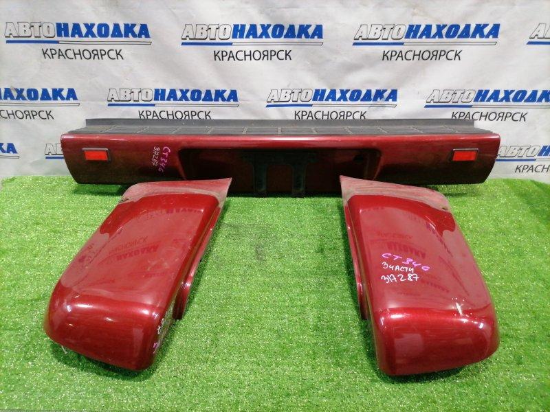 Бампер Chevrolet Blazer CT34G L35 1998 задний Задний, с двумя клыками. На левом клыке есть