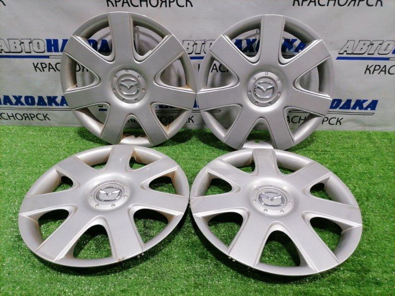 Колпаки колесные Mazda Axela BK5P ZY-VE 2003 оригинал, комплект 4 штуки, R15, дефект креплений,
