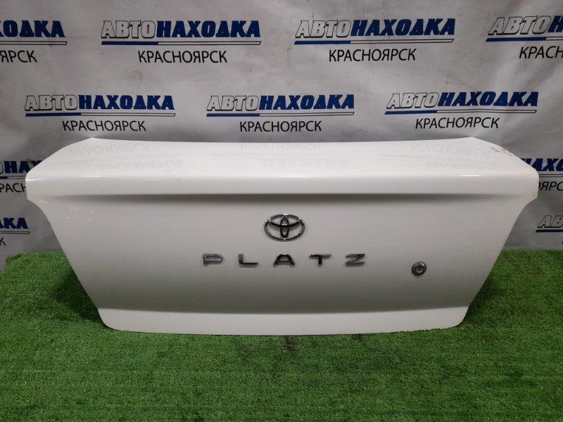 Крышка багажника Toyota Platz SCP11 1SZ-FE 1999 дорестайлинг, цвет 040, в ХТС