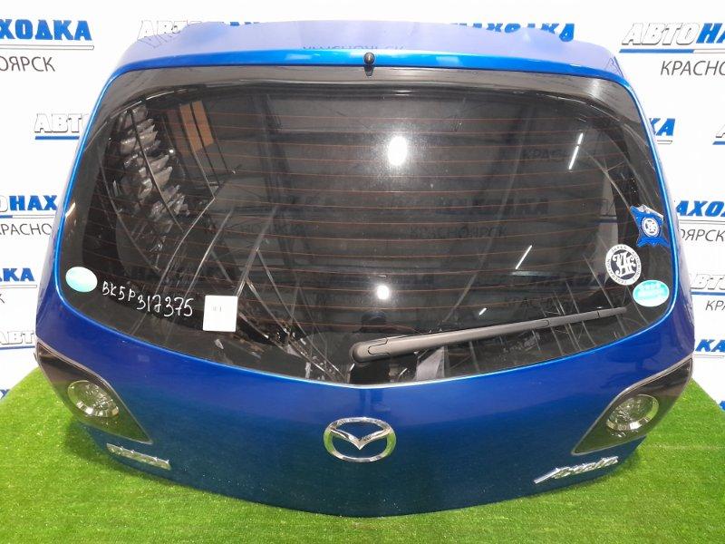 Дверь задняя Mazda Axela BK5P ZY-VE 2003 задняя цвет 27B, в сборе, вставки P2913, дефект ЛКП( вздутие