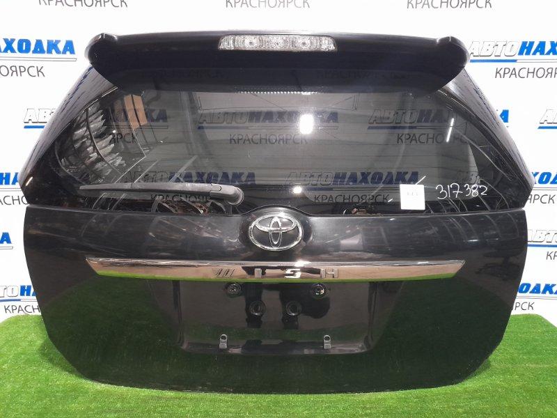 Дверь задняя Toyota Wish ZNE10G 1ZZ-FE 2005 задняя в сборе, цвет 209, с молдингом 2 модели, спойлером.