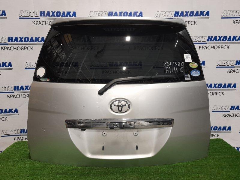 Дверь задняя Toyota Isis ANM10G 1AZ-FSE 2004 задняя в сборе, цвет 1F7, с камерой з/х. Со спойлером.