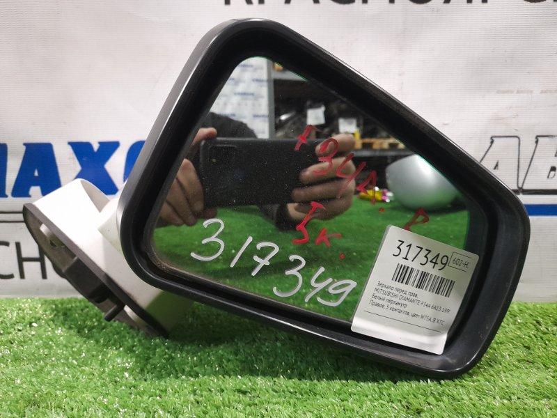 Зеркало Mitsubishi Diamante F34A 6A13 1997 переднее правое Правое, 5 контактов, цвет W75A. В ХТС